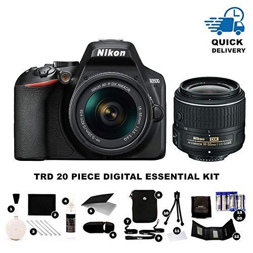 Nikon D3500 24.2MP DSLR Camera + AF-P DX 18-55mm + TRD ® 20 Piece Digital Essential Kit