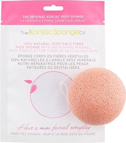 The Konjac Sponge Éponge Konjac pour le visage à l'argile français Rose