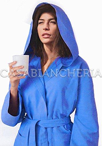 Accappatoio in microfibra gabel hi-tech_(disp. in 8 colori e 5 taglie) _xl _blu denim