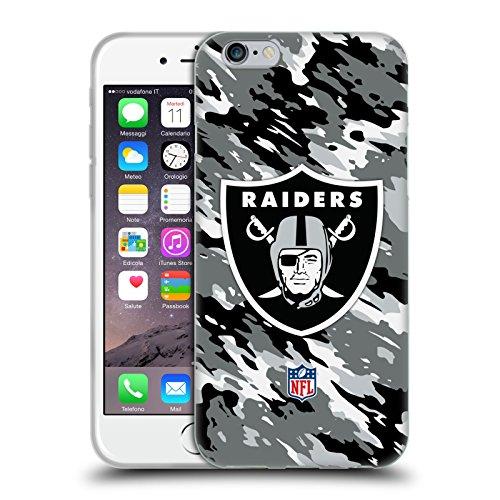 Ufficiale NFL Calcio Oakland Raiders Logo Cover Morbida In Gel Per Apple iPhone 6 / 6s Camou