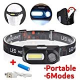 AUTUDER LED phare phare phare torche lampe de poche USB torche rechargeable lumière...