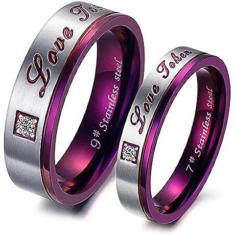 Nunca se descolora compromiso Forever Love Letter Jewerly accesorios hombres y mujeres boda anillos de pareja