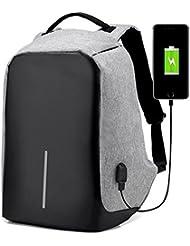 MOYUN Men Women Backpack School Bag Anti-theft Waterproof Travel Bag With USB Charging Port