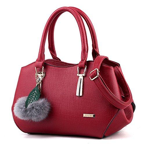 Borse Da Donna Borse In Pelle Messenger Borse In Pelle Elegante Semplice Moda Borsa A Tracolla Borsa Donna Borsa Nera Burgundy