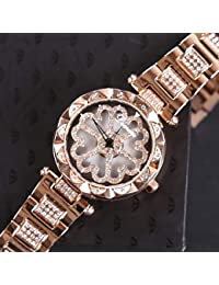 8396466a8e8b WZFCSAE Nuevo Cinturón De Acero Correa De Taladro Elegante Atmósfera Reloj  Moda para Correr Reloj para Dama…