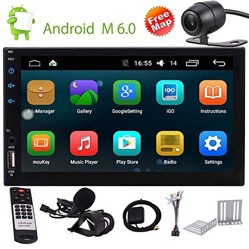 HD 7 Zoll-Auto GPS-Head Unit In Dash 2 Lärm-Auto-Stereo-DVD-Spieler GPS-Navigation 3D Bluetooth Doppel-DIN-Digital-Autoradio-Empfänger TV BT FM/AM RDS Ipod Karte Card + Zurück CAMERA (In Dash Stereo With Backup Camera)
