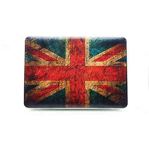 hyait 3d Embossing Colorful Bandera de Reino Unido patternpolycarbonate (PC) Ultra Slim Carcasa rígida para MacBook verde 15