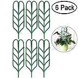 Aniann Garten-Gitter für Mini Kletterpflanzen, Blattform Topfpflanzen Unterstützung Vines Gemüse Vining Blumen Terrasse Klettern Rankgittern für Ivy Rosen Gurken Klematis Töpfe unterstützt (6Pack)