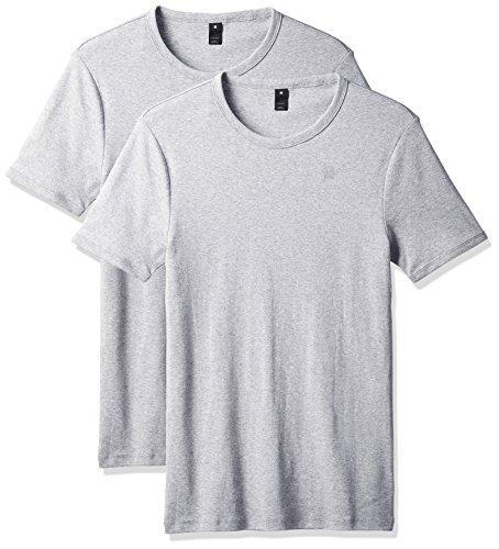 G-STAR RAW Herren T-Shirt Base R T S/S 2-Pack, Grau (Grey HTR 906), X-Small