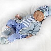 Baby Hmhope 55cm Realista Reborn Bebé/MuñEca AlgodóN Cuerpo Dormir Ojo Cerrado Lindo AcompañAr Juguetes Festival Regalos