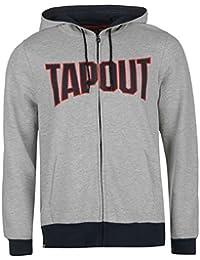 Tapout Herren Kapuzenpullover Hoody Sweatjacke Hoodie Langarm Taschen Logo
