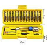 multi-funzione 20PCS trapano avvitatore, trapano avvitatore cacciavite Tools, set di punte per trapano in acciaio ad alta velocità bit kit per legno a doppio uso