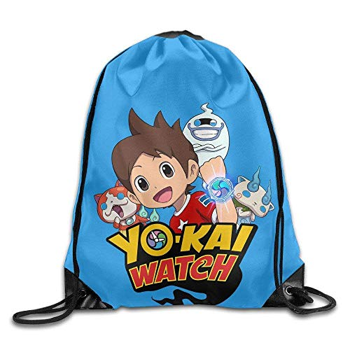 Etryrt Mochilas/Bolsas de Gimnasia,Bolsas de Cuerdas, Yo-Kai Watch Fashion Drawstring Backpack