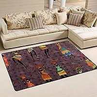 Ingbags Super Doux vintage moderne africaine Femme Zone Tapis Tapis de salon Chambre à coucher Tapis pour enfants jouer solide Home Decorator Sol Tapis et moquettes 78,7x 50,8cm