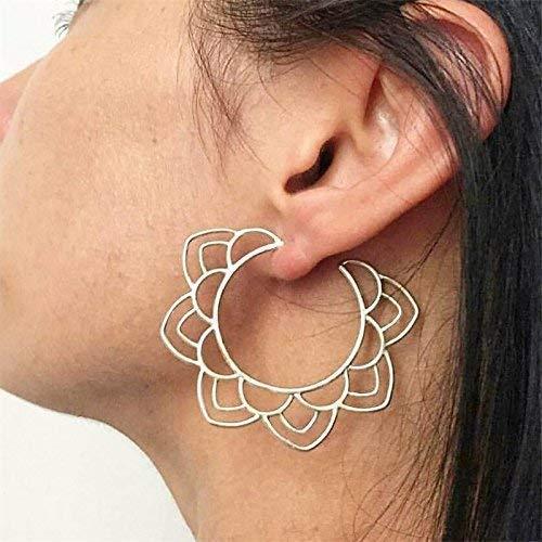 ♥ FLORALE STECKER ♥ seitliche Ohrringe Floral Aus Metall