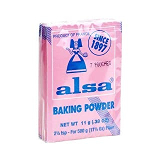French Baking Powder Alsa 7 pouches(0.38 oz) by Alsa