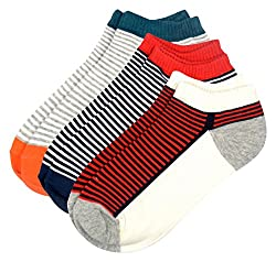 Color Fevrr Mens Cotton Ankle Socks (Multi-Coloured, Set of 3)