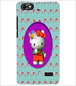 PrintDhaba Kitty D-3979 Back Case Cover for HUAWEI HONOR 4C (Multi-Coloured)