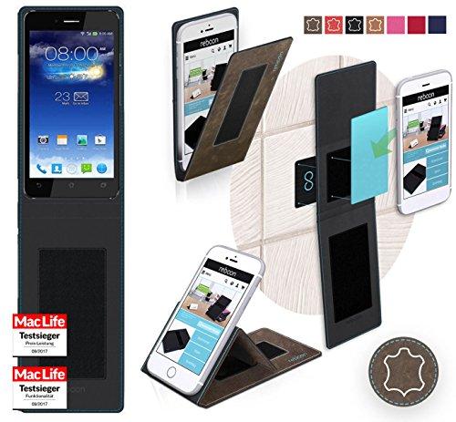 reboon Hülle für Asus PadFone Infinity Tasche Cover Case Bumper | Braun Wildleder | Testsieger