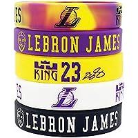 Lorh's store NBA Basketball Lebron James Porträt Armband Nummer 23 Silikon Inspirierende Wort Sport Schweißbänder 5 Pcs