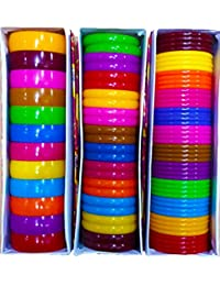 Premium Quality All In One Multicolors Bangles /kada/Patla For Silk Thread Jewelry Making 5mm,10mm,20mm Set -...