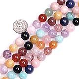 6mm Natural Multicolor mixto Piedra Gemstone Semi Precious cuentas redondas para fabricación de joyería