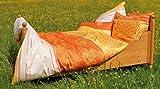 BERK BALANCE Bettbezug Blume des Lebens mangogelb 135/200 cm inkl. Kissen 80/80 cm