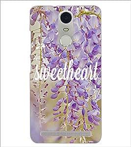PrintDhaba Sweetheart D-4183 Back Case Cover for LENOVO K5 NOTE (Multi-Coloured)