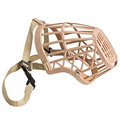 TOOGOO(R) Plastic Basket Adjustable Dog Muzzle Mask Cage Mouth Mesh (Size 5) by TOOGOO(R)