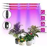 GLIME Pflanzenlampe LED Pflanzenlicht Pflanzenleuchte Wachstumslampe Plant Light mit Timing-Funktion Automatische EIN-/Ausschalten 10 Stufen Helligkeit für Gewächshaus Zimmerpflanzen Blumen Gemüse