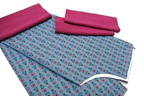 DIY Kit de couture Pantalon 3/4d'été Fleurs Petit sur Menthe avec manuel Schwarz