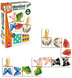 Diset- Juguete educativos Domino Photo Animals (68968)