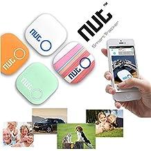 Mini inteligente Patch Alarm Tag Bluetooth Tuerca 2 GPS Tracker Localizador perdida anti Key Finder para el iPhone Android etc (Color: naranja)