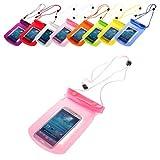 BRALEXX Universal Wassertasche passend für Samsung Galaxy A3, PInk, 5 Zoll