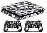 Skin Ps4 SLIM - CAMOUFLAGE GEOMETRIC - limited edition DECAL COVER Schutzhüllen Faceplates playstation 4 SONY BUNDLE