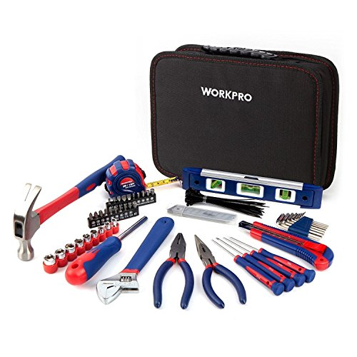 workpro-100pc-mechanic-tool-set-sockets-screwdriver-pliers-bag-home-repair-kit