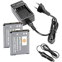 DSTE 2-pack Rechange Batterie et DC109E Voyage Chargeur pour Nikon EN-EL19Coolpix S100S2500S2600S2700S2750S3100S3200S3300S3400S3500S4100S4150S4200S4300S4400S5200S6400S6500S6600