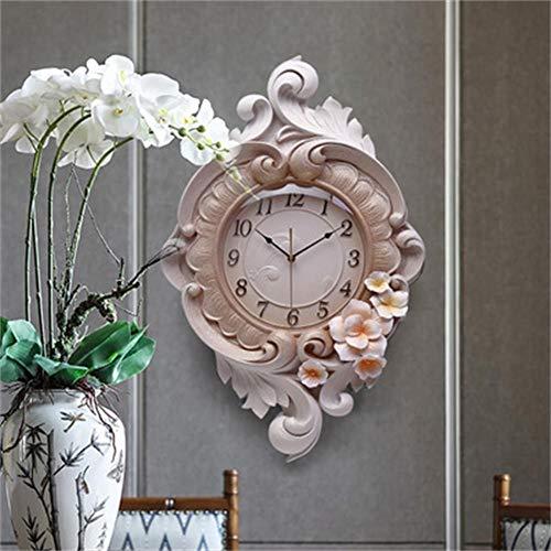 V.JUST European Wall Clock Light Luxus Tisch Wohnzimmer Zuhause Kreative Dekoration Uhr Persönlichkeit Mute Tisch 3D Uhr Schlafzimmer Quarzuhr,B