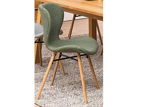 Esszimmerstuhl Loungestuhl Küchenstuhl Essstuhl Stuhl'Bashira I' (2er-Set) grün