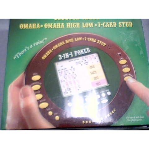 2005 Sharper Image Corporation Sharper Image Omaha * Omaha High Low * 7-Card Stud LCD Hand-Held Model# MS051 (Plastic Blister Package) by Sharper Image