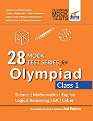28 Mock Test Series for Olympiads Class 1 Science, Mathematics, English, Logical Reasoning, GK & C
