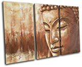 Bold Bloc Design - Buddha Om Mandala Peace Buddhism Religion 60x40cm Treble Leinwand Kunstdruck Box gerahmte Bild Wand hangen - Bereit zum Aufhangen - Canvas Art Print RC-6491(00B)-TR32-LO-A