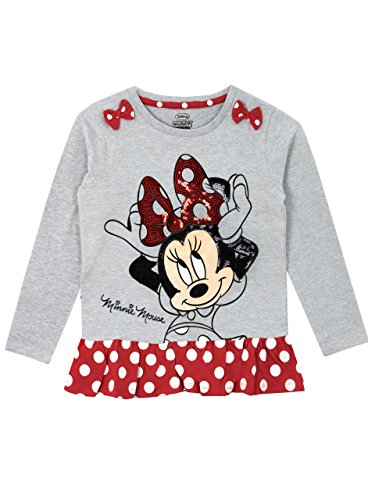 Disney Minni Maus Mädchen Minnie Mouse Langarmshirt 98 cm - Mickey Mouse T-shirt Top
