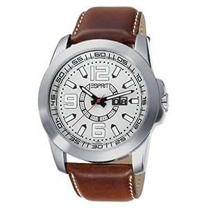 Esprit Herren-Armbanduhr XL Gran Orbit White Analog Leder ES102371001
