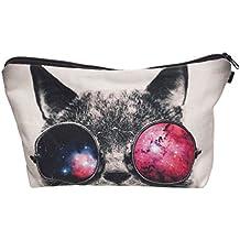 Galaxy Sunglasses Cat Make Up cover borsa cosmetici Astuccio Scuola Hipster Design Instagram Emoji