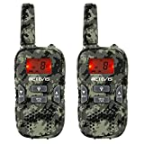 Retevis RT33 Kids Walkie Talkie Childrens Walkie Talkie PMR446 License-free VOX Flashlight Kids Gift Garden Theme Park Outdoor Play Toys(Camouflage,1 Pair)