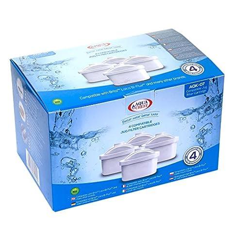 Aqua Crest AK-07 compatibles Brita Maxtra Mavea 1001122 Jug cartouches filtrantes (4)