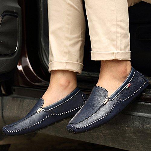 Espadrille homme mocassin conduit voiture nubuck basses chaussure bateau léger chukka shoes bleu foncé