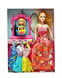 #9: Fashion Babydoll with Little Baby Playing