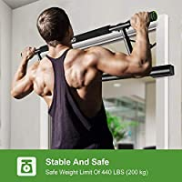 Blivener Pull Up Bar Locking Doorway Pullup Bar//Chin up Bar with Extended Hand Grips Trainer for Home Gym Exercise 26 to 39 Inches Adjustable Length